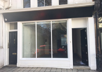 A2 Office/A1 Retail Unit for Sale or to Let, 425 sq ft (39.5 sq m), Ground floor, 1 Hereford Road, Bayswater, London, W2