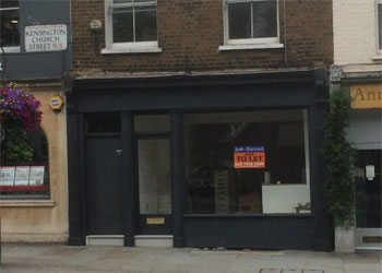 Lock-up Shop & Basement to Let, 396 sq ft (36.7 sq m), 105 Kensington Church Street, Notting Hill Gate, London W8
