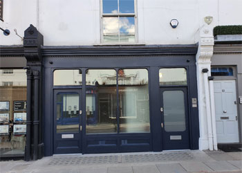 Office/Retail Showroom with Rear Garden to Let, 1240 sq ft (115 sq m), Ground Floor & Basement, 12 Abingdon Road, Kensington, London W8 | JMW Barnard Commercial Property Agents'; ?>