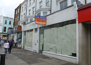 Two adjoining prime retail units to let, 823 sq ft- 1,810 sq ft sales, Ground floor, 176-178 Portobello Road, Notting Hill, London W11