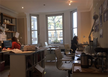 Bright Period Offices To Let / Rent, 583 sq ft (54.1 sq m), Ground Floor, 33 Marloes Road, Kensington, London W8