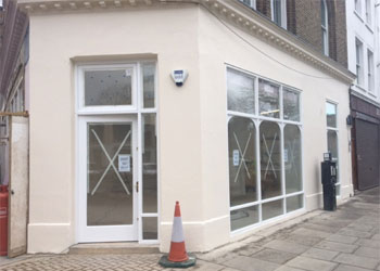 Newly refurbished gallery/showroom/retail/office to Let / Rent, GF Sales 828 sq ft 77 sq m Basement stores 500 sq ft 46.5 sq m, Ground Floor & Basement, 363 Portobello Road, North Kensington, London, W10