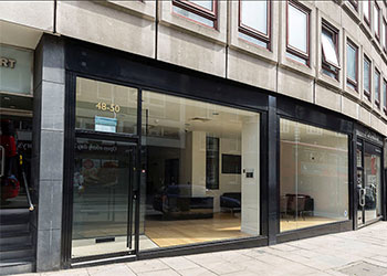 Prominent double fronted A1/A2 shop to let, 1,128 sq ft (105 sq m), 48-50 Kensington Church Street, Kensington, London, W8