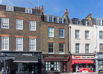 Virtual Freehold for Sale, Bright, self-contained, comfort cooled offices within attractive period building, 1,413 sq ft (131 sq m) net, First to Third Floors, 9 Kensington Church Street, London W8